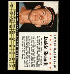 1961 JACKIE BRANDT POST #76 ORIOLES *8858