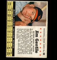 1961 JIM GENTILE POST #68 ORIOLES *8747