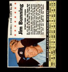 1961 JIM BUNNING POST #39 TIGERS *6502
