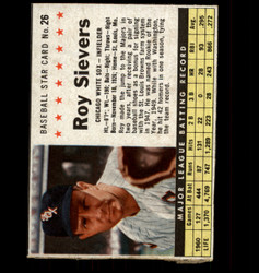 1961 ROY SIEVERS POST #26 WHITE SOX *7069