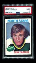 1975 DEAN TALAFOUS TOPPS #197 NORTH STARS PSA 9