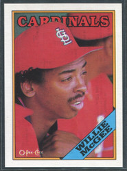 1988 WILLIE MCGEE OPC #160 O PEE CHEE CARDINALS BLACK BACK ONLY #2813