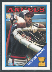 1988 DEVON WHITE OPC #192 O PEE CHEE ANGELS BLACK BACK ONLY #2817