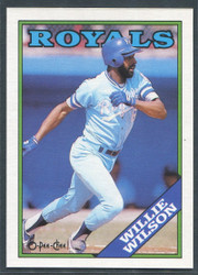 1988 WILLIE WILSON OPC #222 O PEE CHEE ROYALS BLACK BACK ONLY #2818