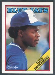 1988 TONY FERNANDEZ OPC #290 O PEE CHEE BLUEJAYS BLACK BACK ONLY #2821