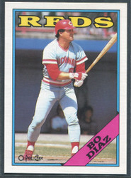 1988 BO DIAZ OPC #265 O PEE CHEE REDS BLACK BACK ONLY #2825