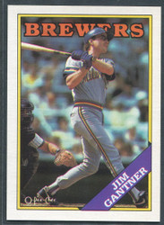 1988 JIM GANTNER OPC #337 O PEE CHEE BREWERS BLACK BACK ONLY #2826