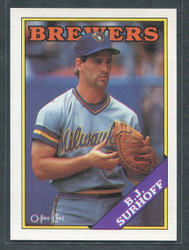1988 BJ SURHOFF OPC #174 O PEE CHEE BREWERS BLACK BACK ONLY #2828