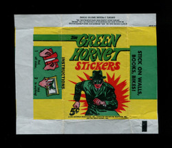 1966 THE GREEN HORNET STICKERS TOPPS WRAPPER