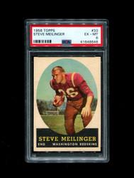 1958 STEVE MEILINGER TOPPS #33 REDSKINS PSA 6