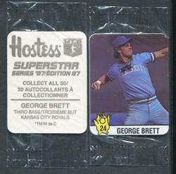 1987 GEORGE BRETT HOSTESS #24 CANADIAN ISSUE STILL IN PLASTIC