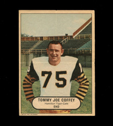 1968 TOMMY JOE COFFEY OPC CFL POSTER O PEE CHEE TIGER-CATS