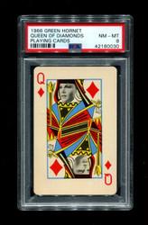 1966 GREEN HORNET QUEEN DIAMONDS PLAYING CARDS PSA 8