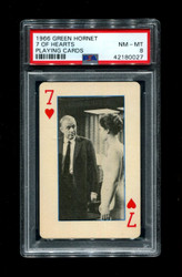 1966 GREEN HORNET 7 OF HEARTS PLAYING CARDS PSA 8