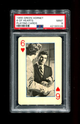 1966 GREEN HORNET 6 OF HEARTS PLAYING CARDS PSA 9