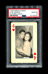 1966 GREEN HORNET 4 OF HEARTS PLAYING CARDS PSA 10