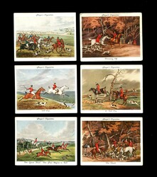 1938 JOHN PLAYER AND SONS OLD HUNTING PRINTS LARGE COMPLETE SET 25/25