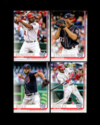 2019 WASHINGTON NATIONALS TOPPS SERIES 2 BASE TEAM SET