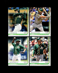 2019 OAKLAND ATHLETICS TOPPS SERIES 2 BASE SERIES SET
