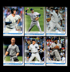 2019 NEW YORK YANKEES TOPPS SERIES 2 BASE TEAM SET