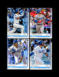 2019 LOS ANGELES DODGERS TOPPS SERIES 2 BASE TEAM SET