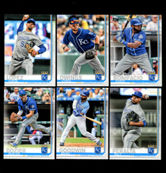 2019 KANSAS CITY ROYALS TOPPS SERIES 2 BASE TEAM SET