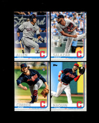 2019 CLEVELAND INDIANS TOPPS SERIES 2 BASE TEAM SET