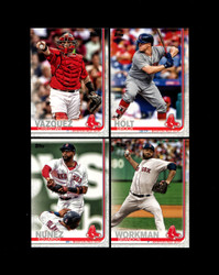2019 BOSTON RED SOX TOPPS SERIES 2 BASE TEAM SET