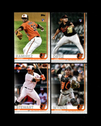 2019 BALTIMORE ORIOLES TOPPS SERIES 2 BASE TEAM SET