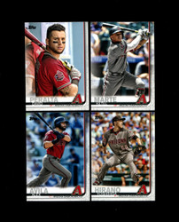 2019 ARIZONA DIAMONDBACKS TOPPS SERIES 2 BASE TEAM SET