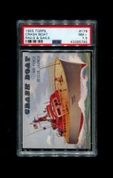1955 TOPPS RAILS AND SAILS #179 CRASH BOAT PSA 7.5