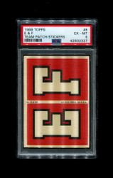 1968 E & F TOPPS #8 TEAM PATCH STICKERS FOOTBALL PSA 6