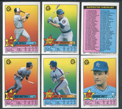 1989 OPC BASEBALL SUPERSTAR STICKERCARD SET OF 67 O PEE CHEE
