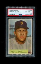 1954 EBBA ST. CLAIRE BOWMAN #128 NEW YORK GIANTS PSA 6.5