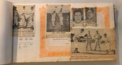 1950 ERA SCRAPBOOK W/NY YANKEES MANTLE BERRA + CFL FOOTBALL