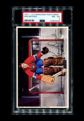 1971 KEN DRYDEN MONTREAL CANADIENS POSTCARDS ROOKIE PSA 8