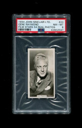 1934GENE RAYMOND JOHN SINCLAIR LTD. FILM STARS 54 REAL PHOTOS PSA 8