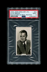 1934 CLIVE BROOK JOHN SINCLAIR LTD. #50 FILM STARS 54 REAL PHOTOS PSA 9