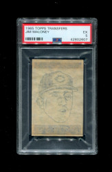 1965 JIM MALONEY TOPPS TRANSFERS CUBS PSA 5