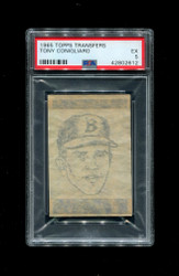 1965 TONY CONIGLIARO TOPPS TRANSFERS RED SOX PSA 5