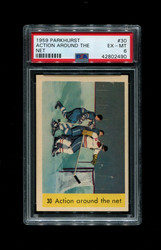 1959 ACTION AROUND THE NET PARKHURST #30 PSA 6