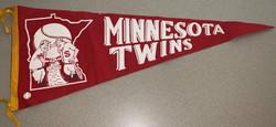 1960 ERA MINNESOTA TWINS VINTAGE BASEBALL PENNANT FLAG
