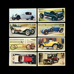 1976 CRAVEN HOUSE OF CARDS - VINTAGE CARS COMPLETE SET OF 50 CARDS