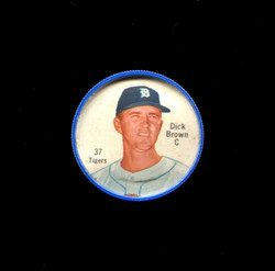 1962 DICK BROWN SHIRRIFF COINS #37 TIGERS *6130