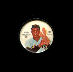 1962 WILLIE MCCOVEY SHIRRIFF COINS #142 GIANTS *7015