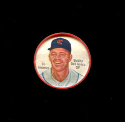 1962 BOBBY DEL GRECO SHIRRIFF COINS #16 ATHLETICS *4216