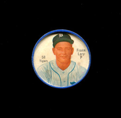 1962 FRANK LARY SHIRRIFF COINS #58 TIGERS *8535