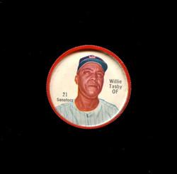 1962 WILLIE TASBY SHIRRIFF COINS #21 SENATORS EX *4841