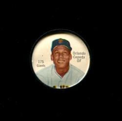 1962 ORLANDO CEPDEA SHIRRIFF COINS #175 GIANTS *5115