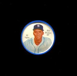 1962 BILL BRUTON SHIRRIFF COINS #92 TIGERS *3372